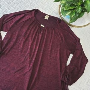 Red/Burgundy Blouse